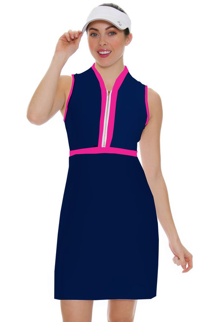 Allie Burke Navy With Pink Trim Golf Dress