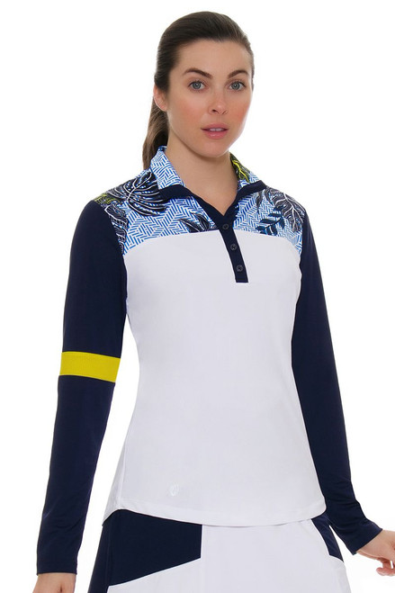 GGBlue Women's Escapade Ruby Golf Long Sleeve Shirt