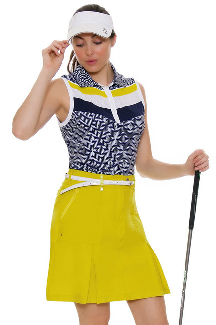 GGBlue Women's Escapade  Boca Citron Golf Skort
