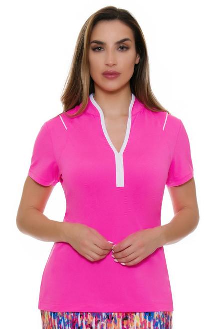 EP Pro NY Women's Brilliants Y Neck Golf Short Sleeve Polo