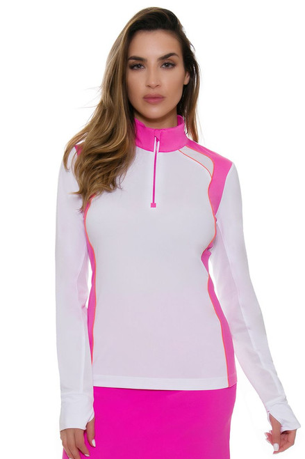 EP Pro NY Women's Brilliants Contrast Blocking Golf Long Sleeve Top