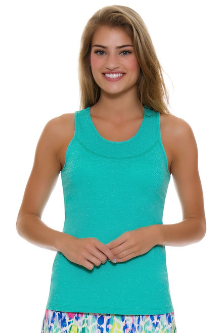 Allie Burke Women's U Neck Seafoam Tennis Tank