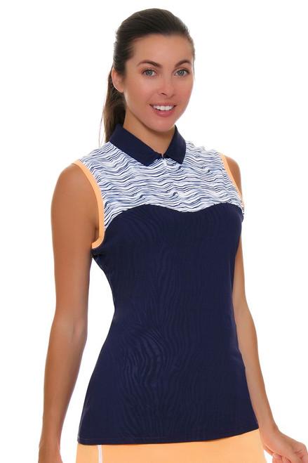 Annika Women's Courage Focus Print Mix Golf Sleeveless Shirt