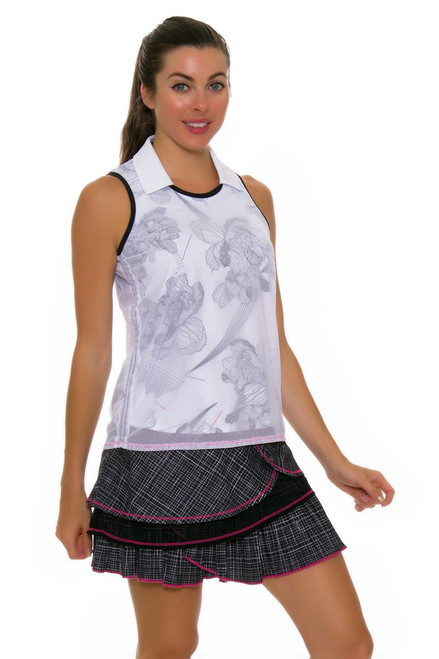 Lucky In Love Women's Off The Charts Pleated Tier Pull On Golf Skort LIL-GB17-514001 Image 1