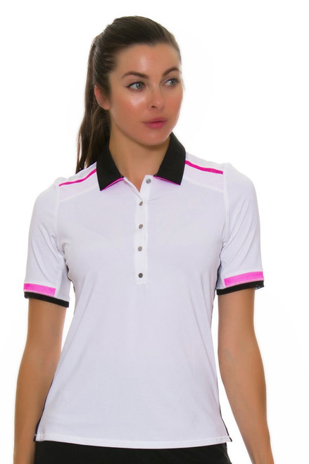 Lucky In Love Women's Off The Charts Lucky Golf Polo LIL-GT34-120 Image 1