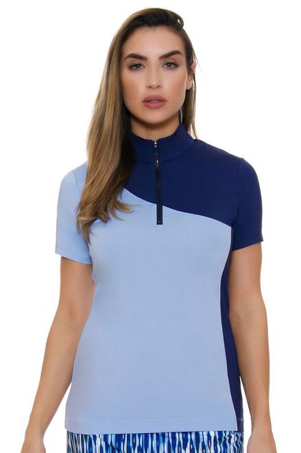 EP Pro NY Women's Luxor Color Block Golf Short Sleeve Polo
