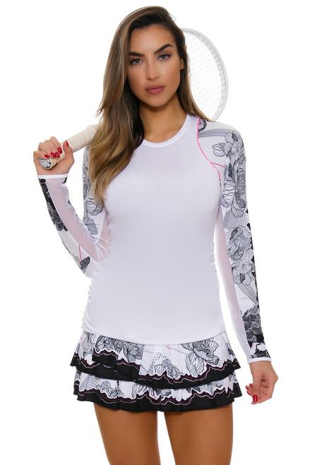 Lucky In Love Women's Off The Charts Nexus Pleat Tier Tennis Skirt