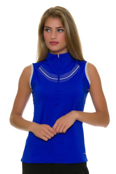 Annika Women's Hero Athlete Contour Mock Golf Sleeveless Shirt