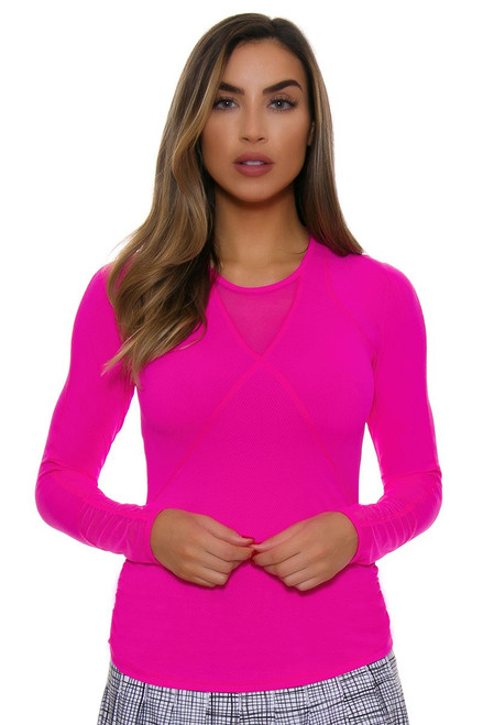 Lucky In Love Women's Off The Charts Infinity Tennis Long Sleeve