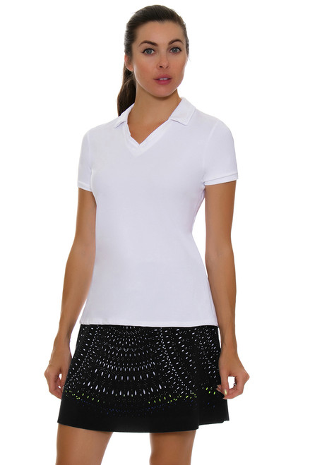 Lucky In Love Women's Laser Cut Medallion Pull On Golf Skort LIL-GB24-485001 Image 1