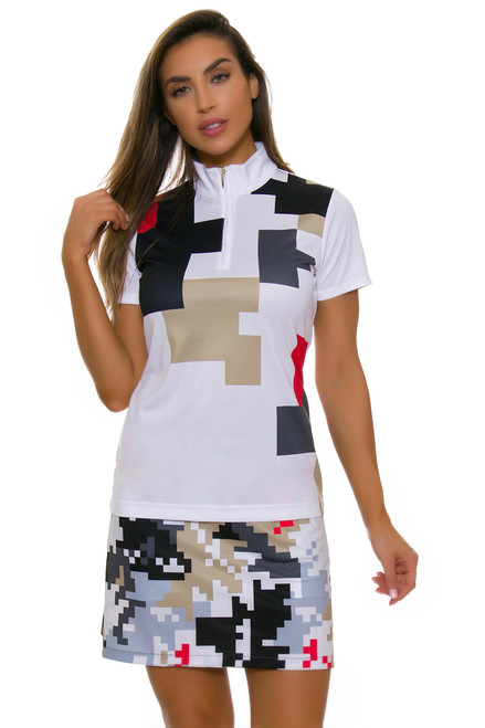 EP Pro NY Women's Gold Standard Abstract Puzzle Pull On Golf Skort-1