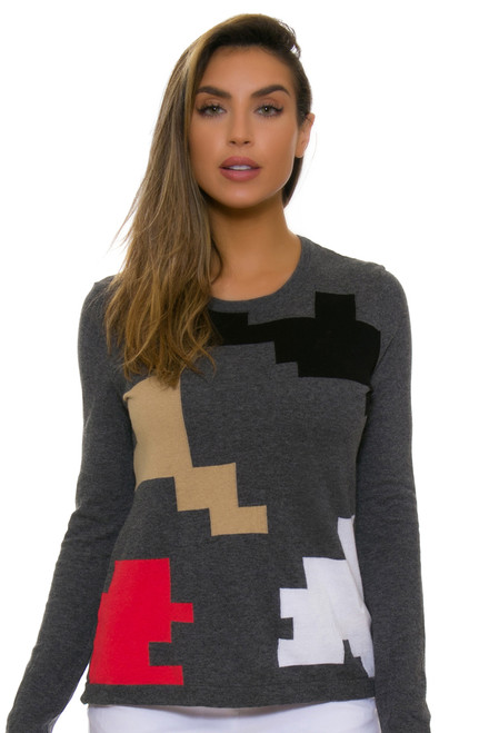 EP Pro NY Women's Gold Standard Abstract Puzzle Sweater EPNY-4341NCD Image 1