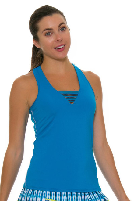 Lucky In Love Women's Boho Sense Solid Strappy V-Neck Tennis Tank