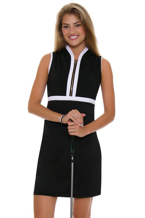 Allie Burke Black With White Trim Golf Dress Ab Gd001 011
