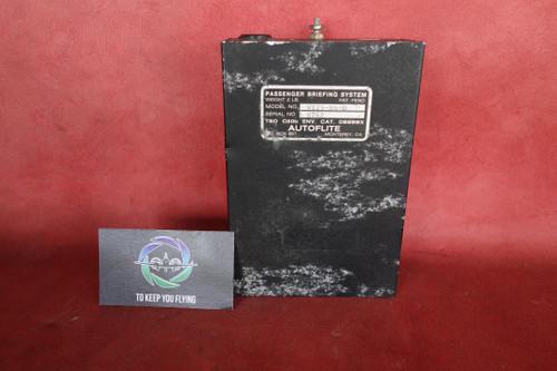 Autoflite W123-PA-D Passenger Briefing System