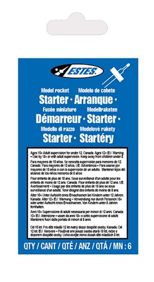 Starters (6 pk) Accessory for Flying Model Rockets - Estes 2302