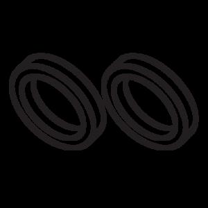CR-5055 Centering Rings (2 rings) - Custom 23030