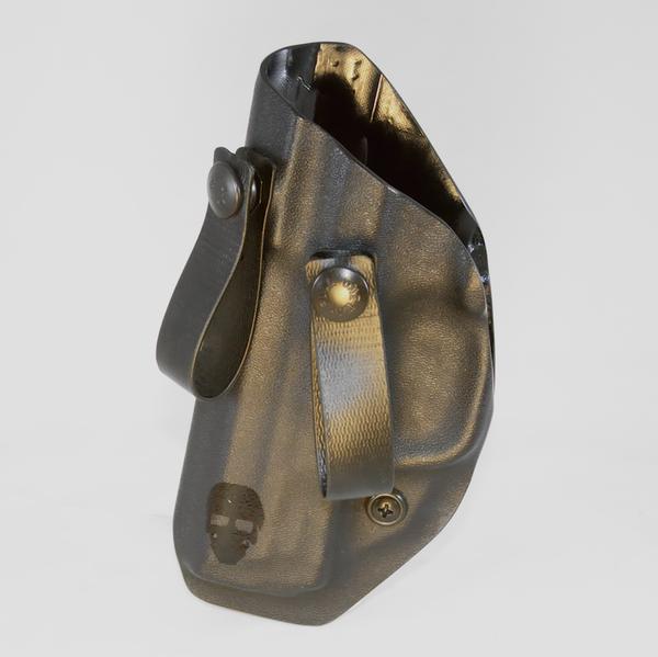 Custom Kydex Inside the Waistband (IWB) Holster - Front - Black - Left Hand Draw
