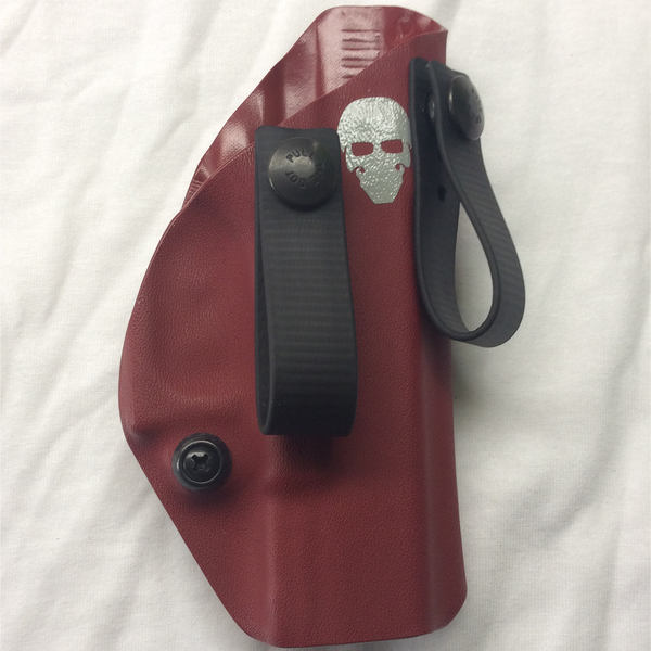 Custom Kydex Inside the Waistband (IWB) Holster - Front - Blood Red