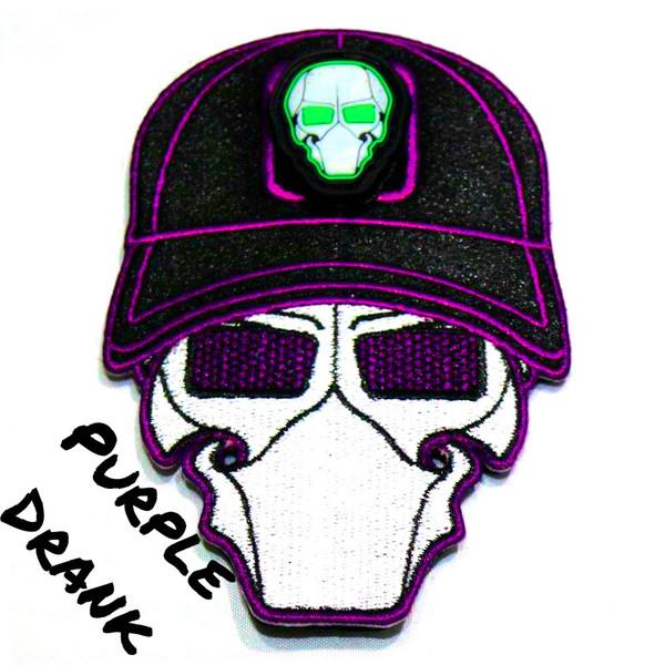 Purple Drank Ball Cap Logo Patch with GFT Ranger Eye Patch