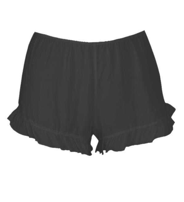 Calvin Rucker Panties with Ruffles in Black