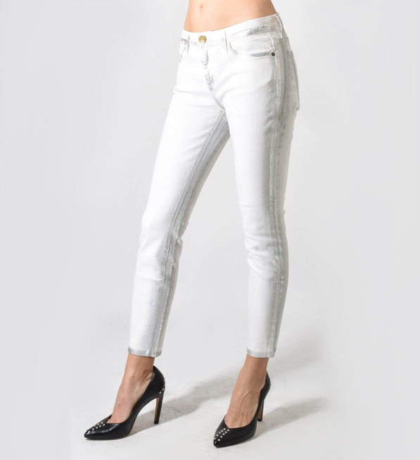Current/Elliott Washed Out Silver Stiletto