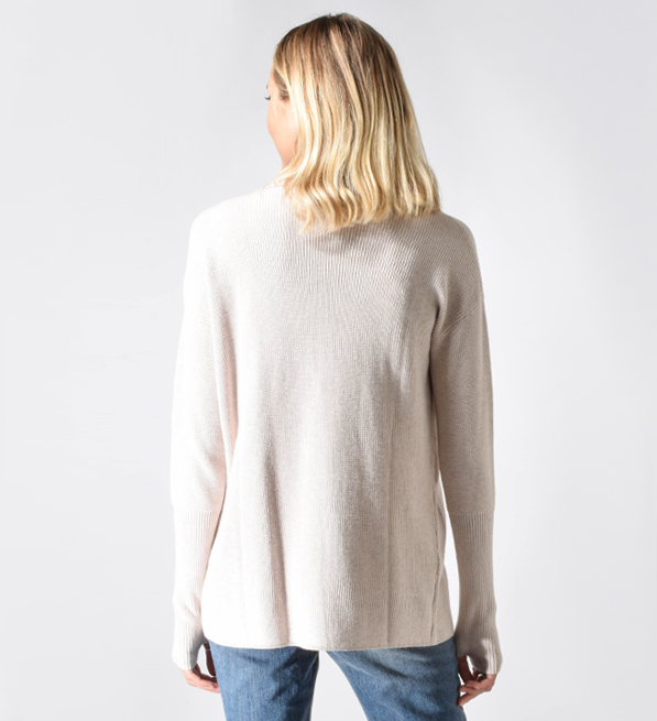 One Grey Day Reece Cardigan in Pink Sand