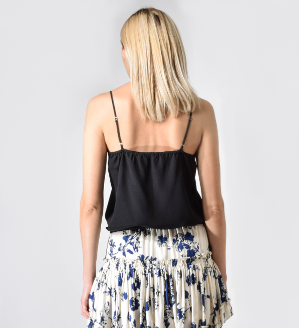 Lavender Brown Cami with Waist Tie in Black