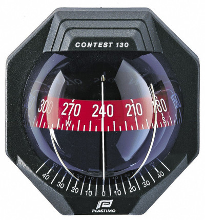Plastimo Contest 130 Compass with bracket - Black