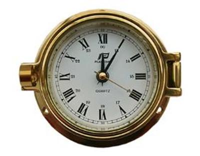 "Plastimo 3"" Clock Porthole RN/Arabic"