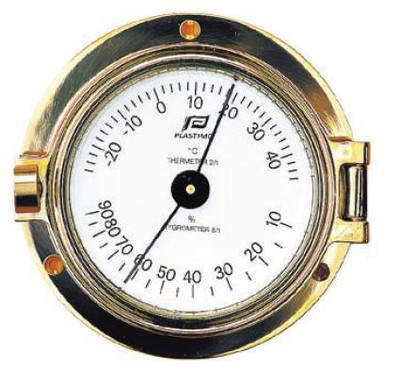 "Plastimo 3"" Thermometer-Hygrometer Hinged (MTHE34)"