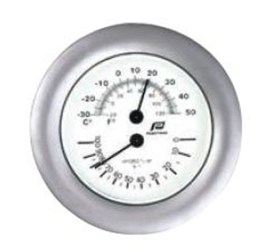 "Plastimo 4"" Thermometer-Hygrometer Sealed Chrome/Matt Chrome"