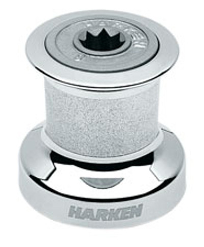 Harken Single Speed Winch with Chromed Bronze Base, Drum & Top
