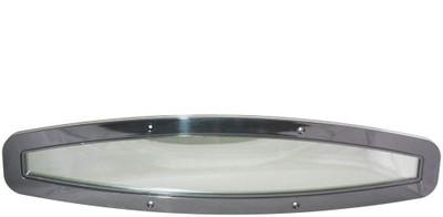 RWB Beckson Oval Flexible Portlight Black/Tint 600mm