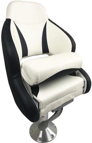 RWB ESM Admiral Flip-Up Helmsman Seat - Black & White