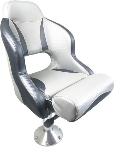 RWB ESM Admiral Flip-Up Helmsman Seat - Dark Grey & Light Grey