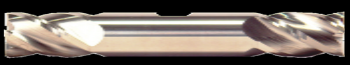 7/16 DIA, 2 Flute, Double End W/ Weldon Flats, Uncoated