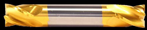 1/2 DIA, 2 Flute, Double End, Stub Length, TiN Coated