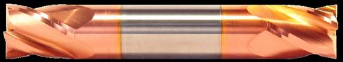 1/2 DIA, 2 Flute, Double End, Stub Length, TiCN Coated