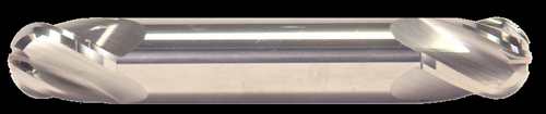 3/32 DIA, 4 Flute, Double End, Ball Nose, Stub Length, Uncoated