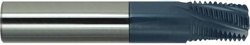 "3/8"" BSPT, AlTiN Coated Carbide Thread Mill"