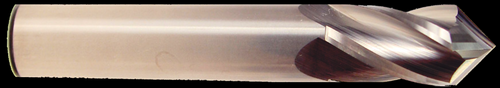 3/8 DIA., 4 Flute, 1 LOC, Uncoated, 90° Carbide Drill Mill