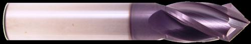 3/8 DIA., 4 Flute, 1 LOC, AlTiN Coated, 90° Carbide Drill Mill