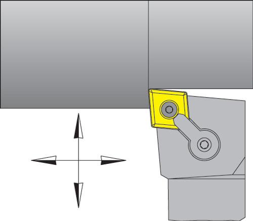 "CNMG-432 Inserts w/ 1"" Right Hand MCLNR Tool Holder Kit - DMC30UT"