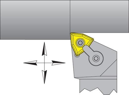 """WNMG-432 Inserts w/ 1"""" Right Hand MWLNR Tool Holder Kit - DMC30UT"""