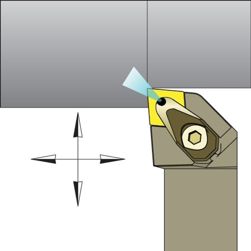 "CNMG-432 Inserts w/ 1"" Jet-Stream ADCLNR Tool Holder Kit - DMC30UT"