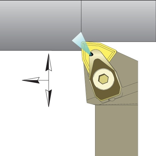 "WNMG-432 Inserts w/ 1"" Jet-Stream ADWLNR Tool Holder Kit - DMC30UT"