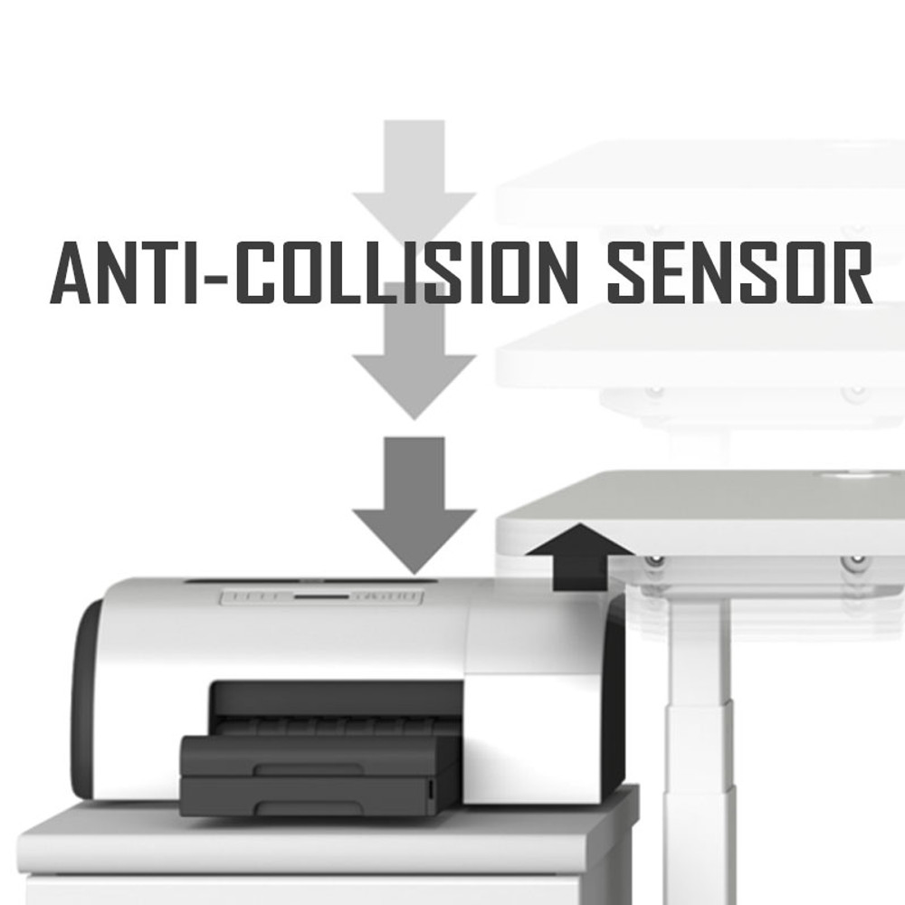 Anti-Collision Sensor in the Eureka Standing Desk E60 Electric Height-Adjustable - 30-Day Risk Free Guarantee Plus FREE Shipping