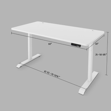 Eureka Standing Desk E60- Electric Height-Adjustable - 30-Day Risk Free Guarantee Plus FREE Shipping