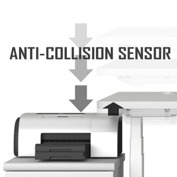 Anti-Collision Sensor in the Eureka Standing Desk E60 - L Shape Desk (Right) Electric Height-Adjustable - 30-Day Risk Free Guarantee Plus FREE Shipping
